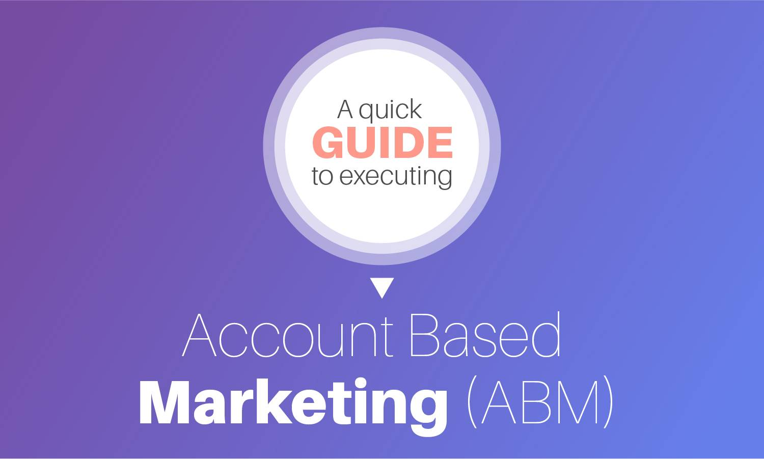 A quick guide to executing Account Based Marketing (ABM)