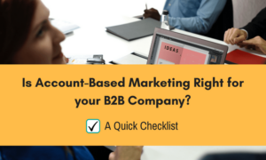 Account Based Marketing for B2B Company